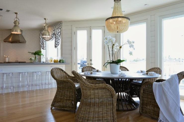 Beaded Chandelier Cottage Dining Room Morgan Harrison Home
