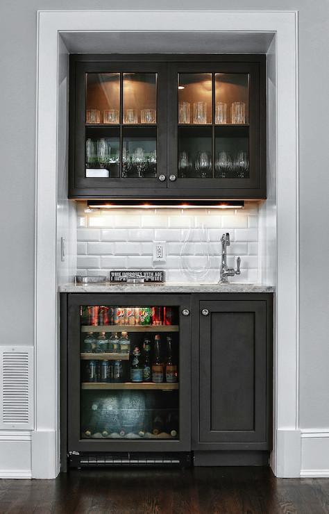 Snack Bar Ideas Contemporary Living Room DeRosa Builders