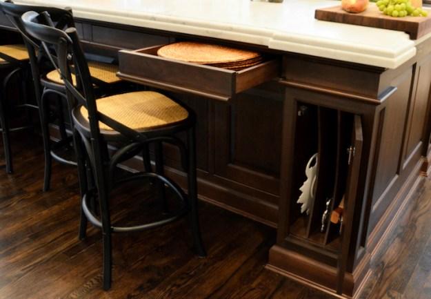kitchen island storage - transitional - kitchen - dearborn cabinetry