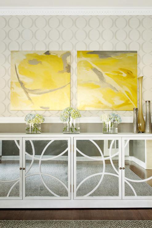Mirrored Buffet Design Ideas