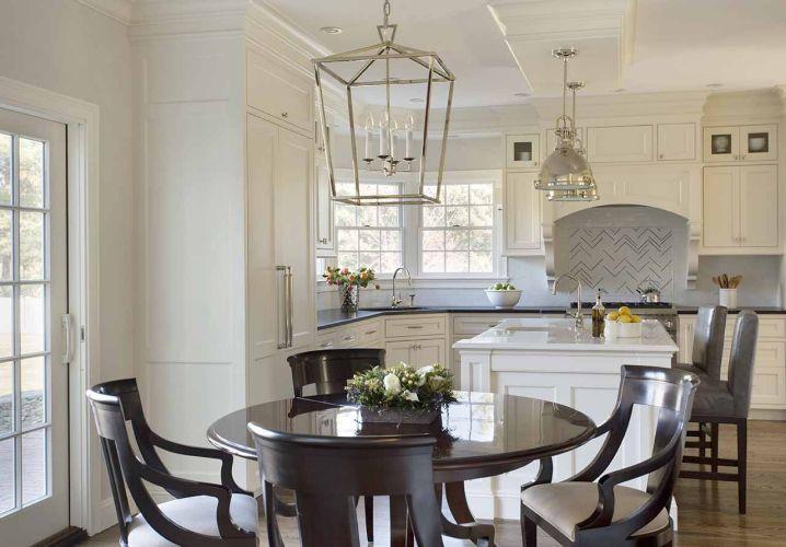 darlana medium lantern transitional kitchen liz caan interiors