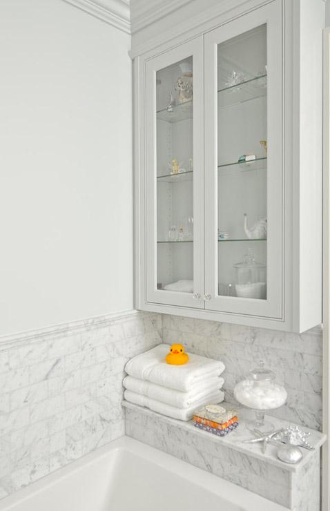 Shower Shelf Transitional Bathroom Emily Hollis