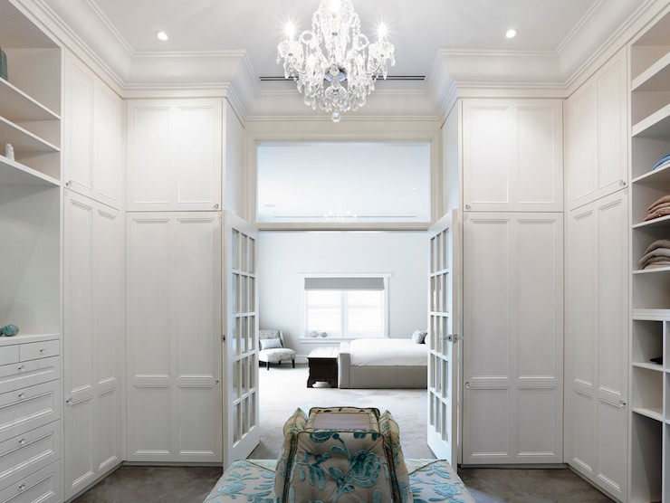 Closet With French Doors Transitional Closet Canny Design