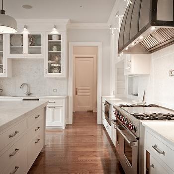 Honed Carrara Marble Countertops Traditional Kitchen