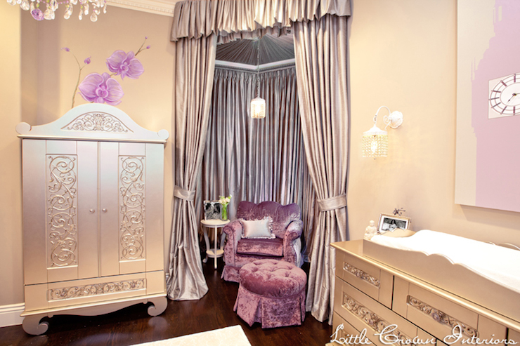 Purple And Gray Nursery Eclectic Nursery Little