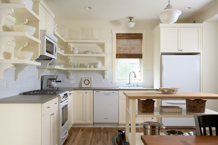Cream Kitchen Cabinets Transitional Kitchen Benjamin