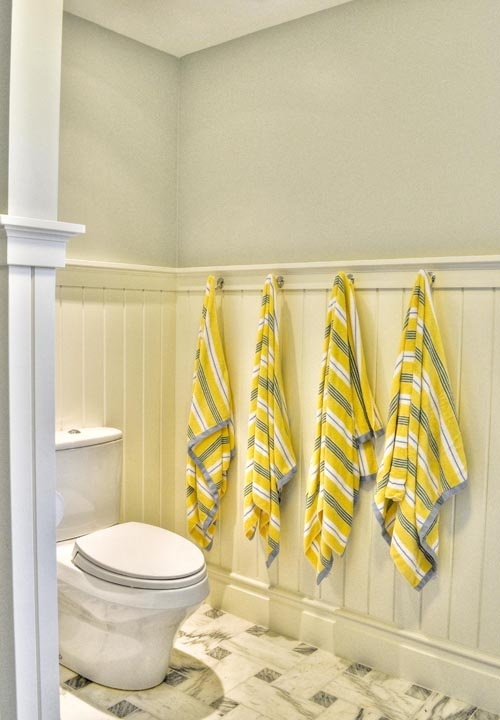 Powder Room Beadboard Cottage Bathroom Gulf Shore Design