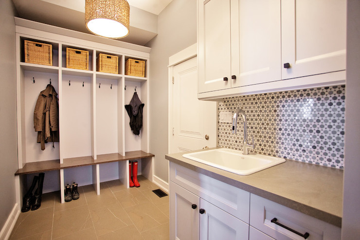 Mudroom Laundry Room Contemporary Laundry Room