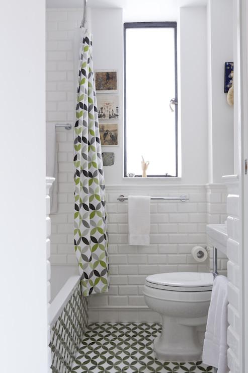 Beveled Subway Tile Shower Surround Design Ideas