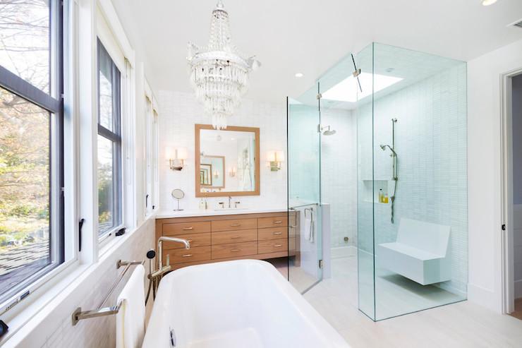 Off Set Tub Filler Contemporary Bathroom Von Fitz Design