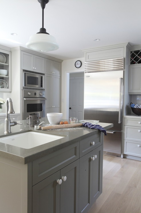 gray painted cabinets contemporary kitchen benjamin on benjamin moore kitchen cabinet paint id=97387