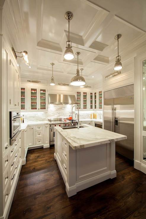 Island Countertop Overhang Transitional Kitchen The