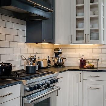 off white subway tile with gray grout