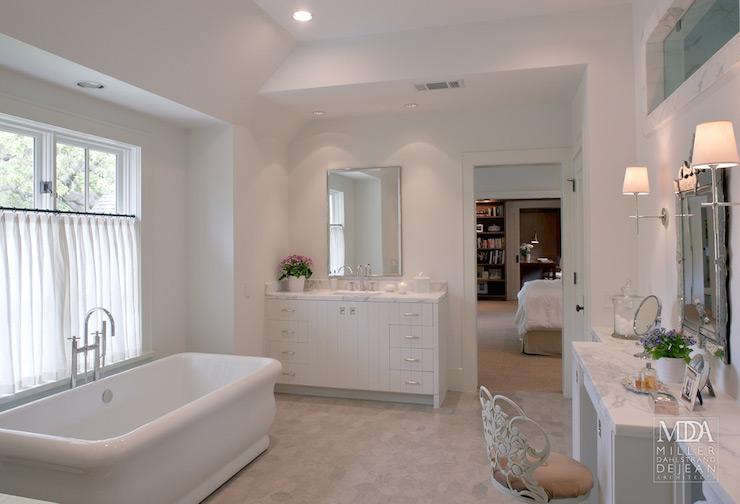 Cafe Curtains Bathroom Transitional Bathroom MDD
