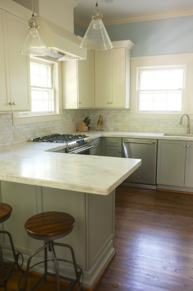 White Upper Cabinets Gray Lower Cabinets Transitional Kitchen Twin Companies