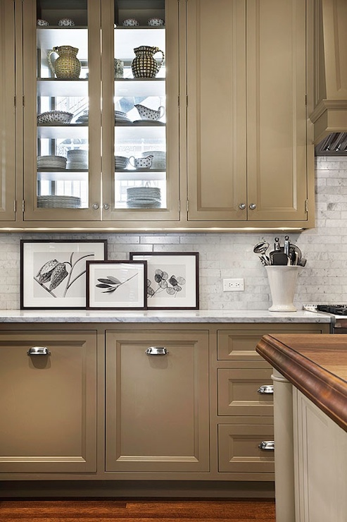 Taupe Kitchen Cabinets Contemporary Kitchen Pratt