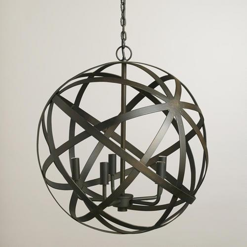 Metal Orb Black Chandelier