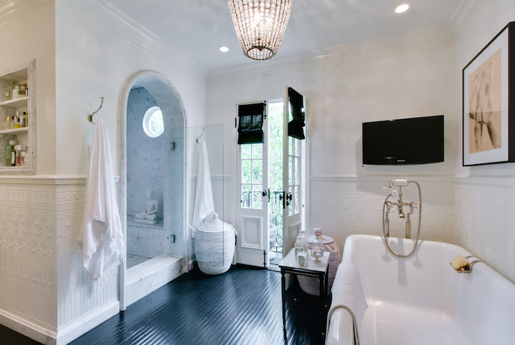 Shower Cave Transitional Bathroom Abbott Moon