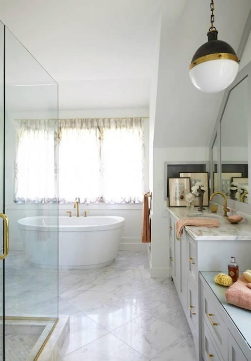 Brass Bathroom Fixtures Transitional Bathroom Rebecca Hawkins Interiors