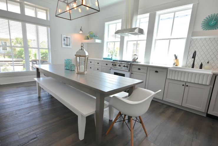Gray Dining Table Cottage Kitchen Lollygag Beach House