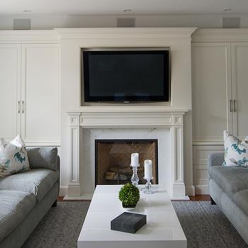 Cabinets Either Side Of Fireplace Design Ideas
