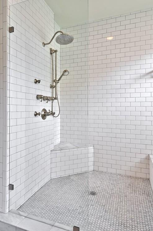 corner shower bench transitional