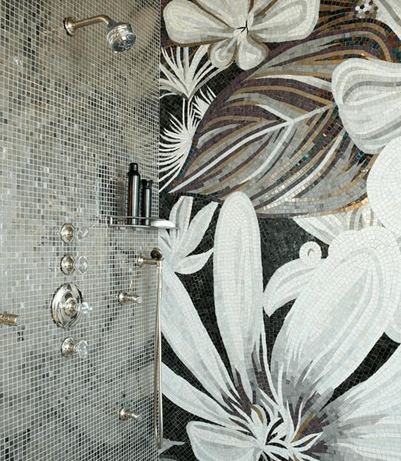 mosaic shower surround contemporary