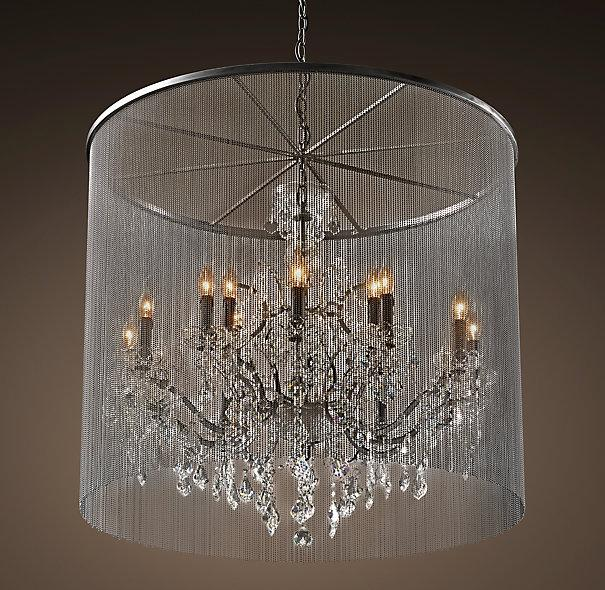 Vaille Crystal Grey Large Chandelier