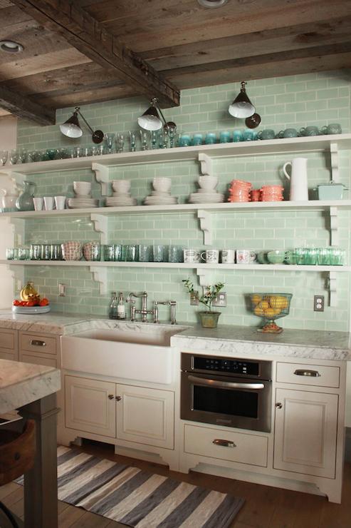 seafoam green kitchen backsplash tiles