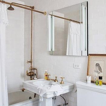 Exposed Plumbing Vintage Bathroom Studio MRS