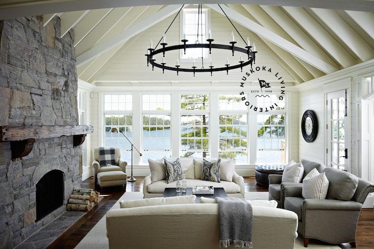 Lake House Ideas Cottage Living Room Muskoka Living