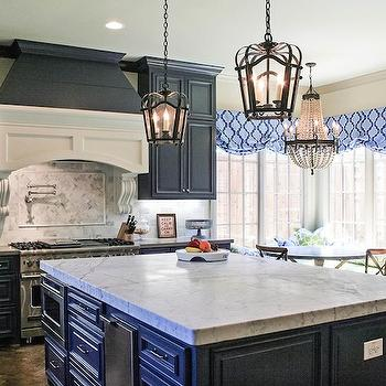 Navy Blue Cabinets French Kitchen Cote De Texas