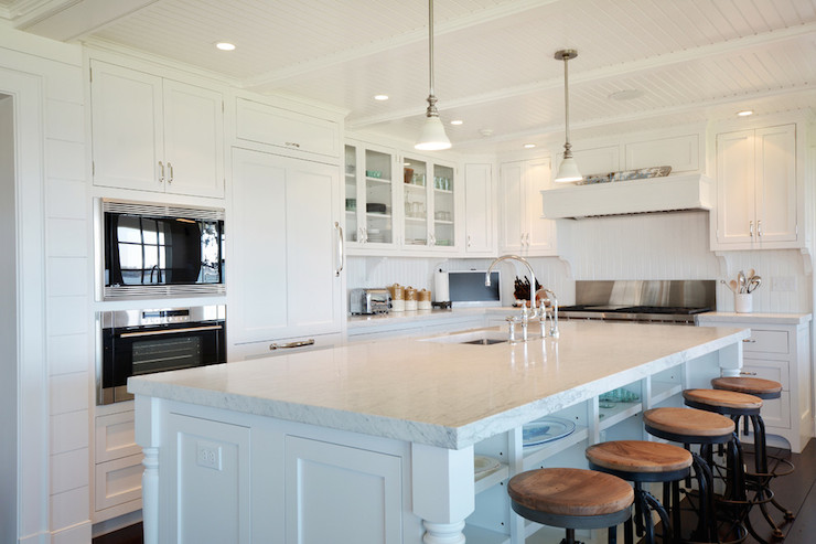 L Shaped Kitchen Cottage Kitchen Hamptons Habitat