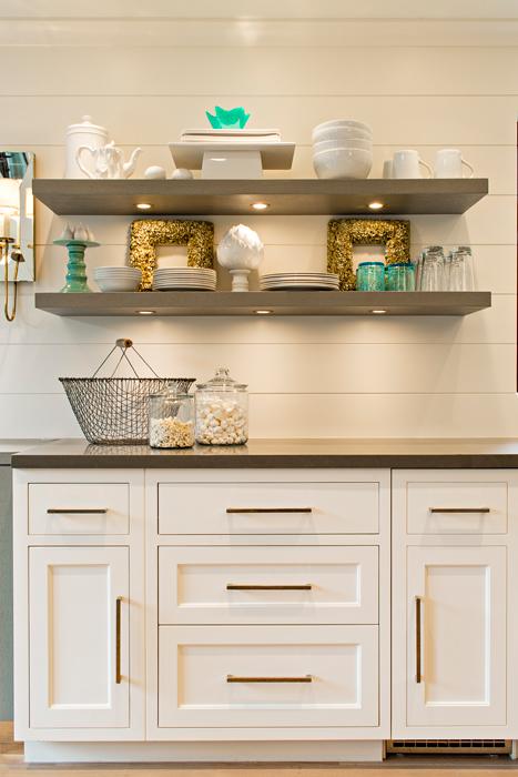 Floating Kitchen Shelves Transitional Elizabeth Kimberly
