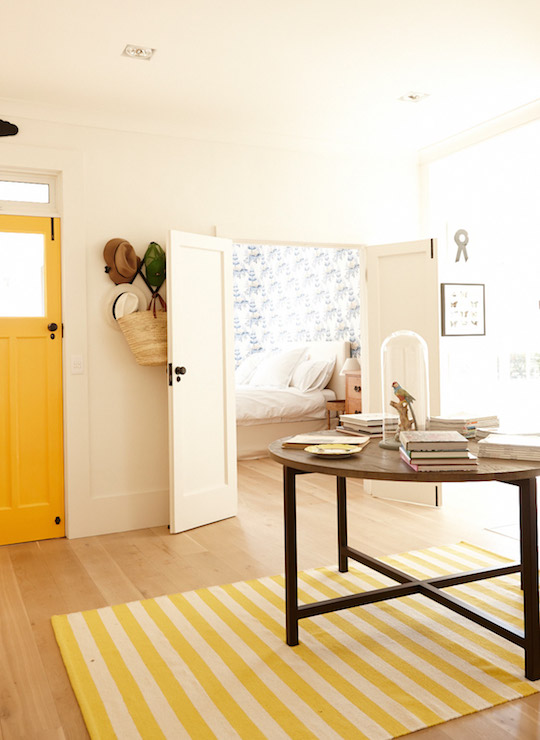 Yellow Door Eclectic Entrancefoyer ICI Dulux Gold