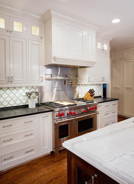 Arabesque Tile Backsplash Contemporary Kitchen Tatum