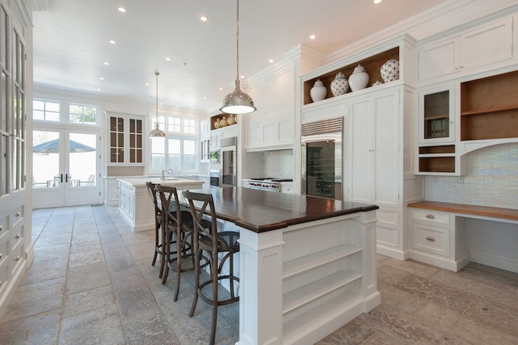 Wood Island Countertop Transitional Kitchen Pricey Pads