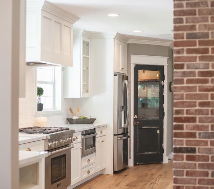 Black Pantry Door Cottage Kitchen Rafterhouse