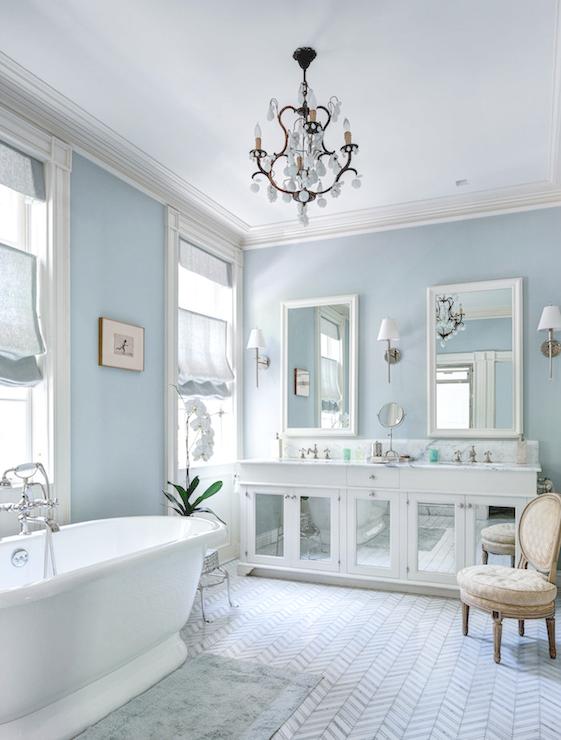 Sherwin Williams Sea Salt Contemporary Bathroom