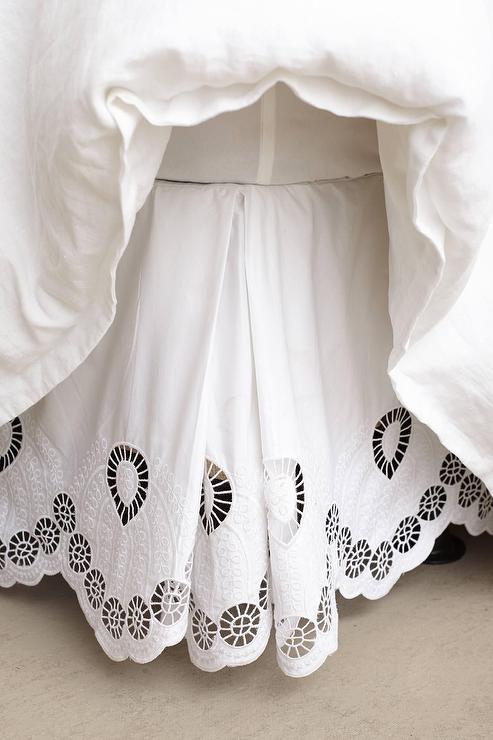 Eyelet Embroidered White Bedskirt