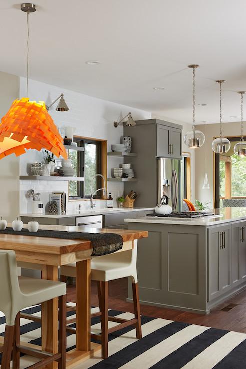 Grey Kitchen Cabinets Transitional Kitchen Benjamin