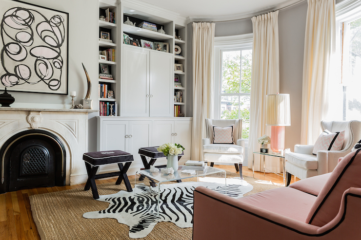 Art In Front Of Bookcases Design Ideas