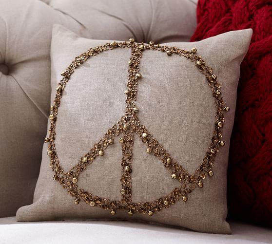 jingle peace gold embellished filled