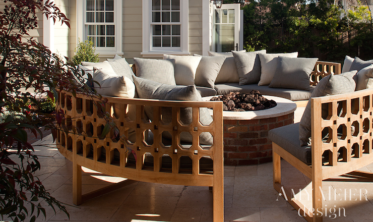 curved outdoor sofa transitional