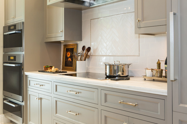 Honed Carrera Countertops Transitional Kitchen