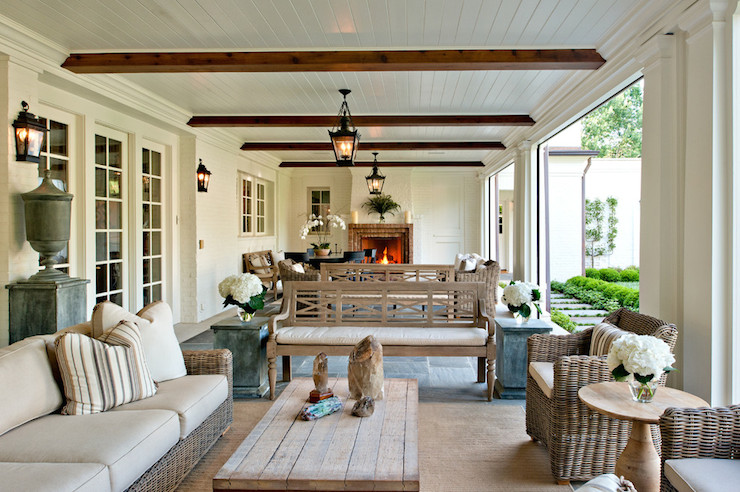 Long Covered Patio - Transitional - decks/patios on Long Patio Ideas id=88780