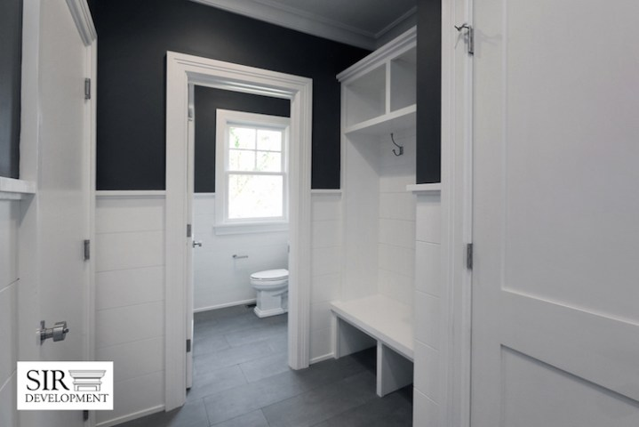 Black and White Mudroom Design   Transitional   Bathroom   Sir     Black and White Mudroom Design