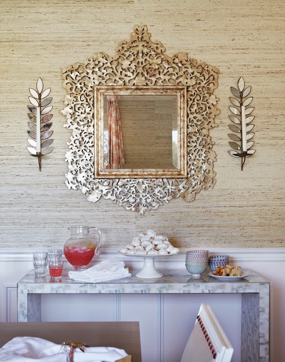 Dining Room Mirrored Buffet Design Ideas on Dining Room Sconce Idea id=26739