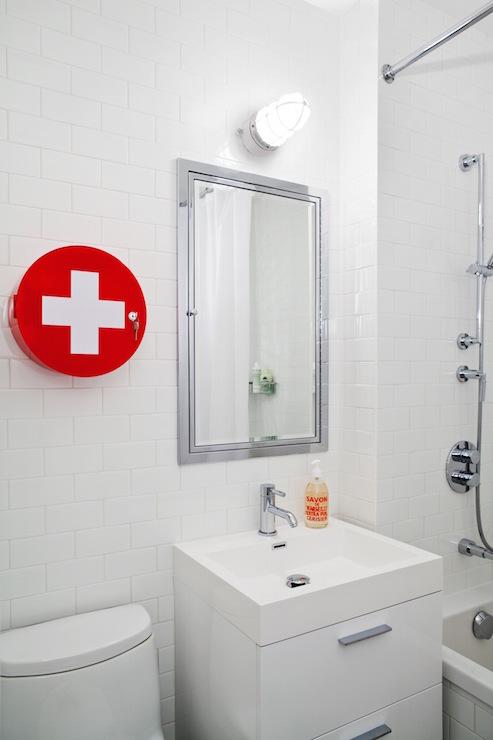 Framed Medicine Cabinet Transitional Bathroom