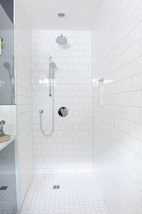 brick pattern shower tiles design ideas